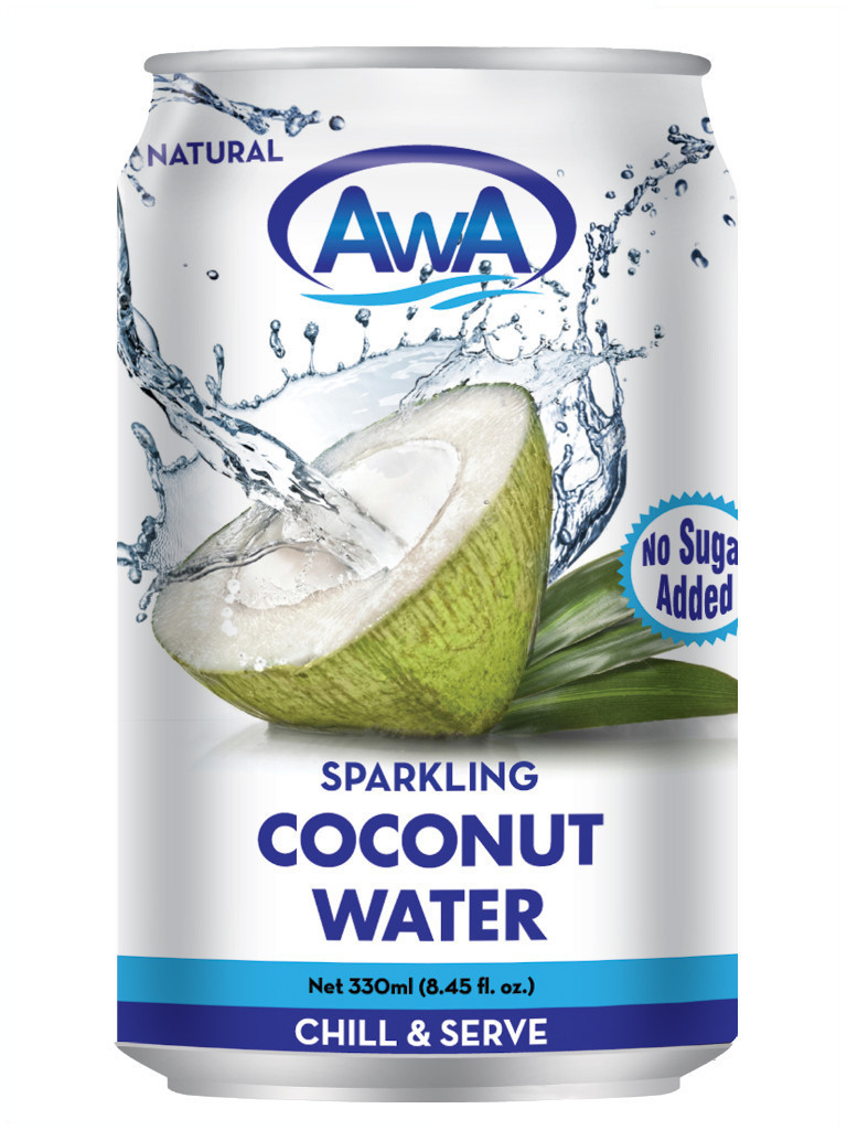 AwA Natural Sparkling Coconut Water