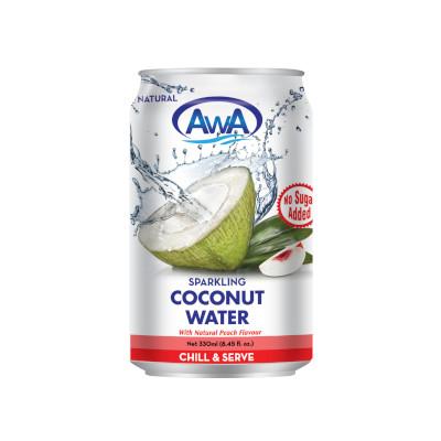 AwA Peach Sparkling Coconut Water - 330ml