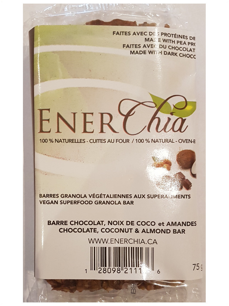 Enerchia Chocolate Coconut Almond Vegan Granola Bar - 75g