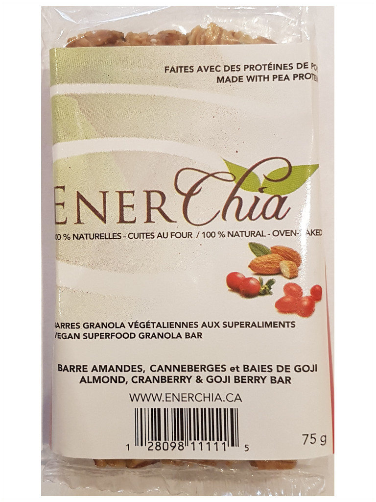 Enerchia Goji Berry Cranberry Almond Vegan Granola Bar