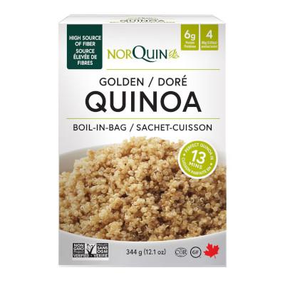 NorQuin Golden Quinoa Boil-in-Bag - 4 x 86g Pouches